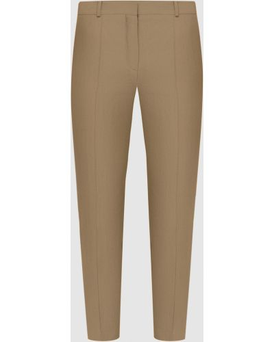 Зеленые льняные укороченные брюки Loro Piana