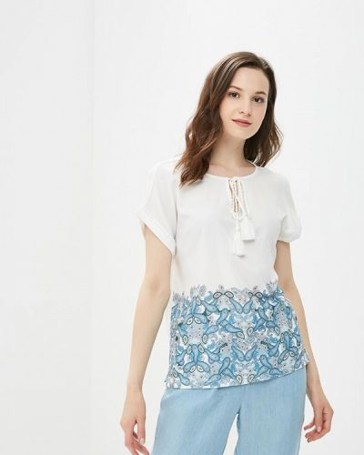 Блузка с коротким рукавом белая турецкий Top Secret