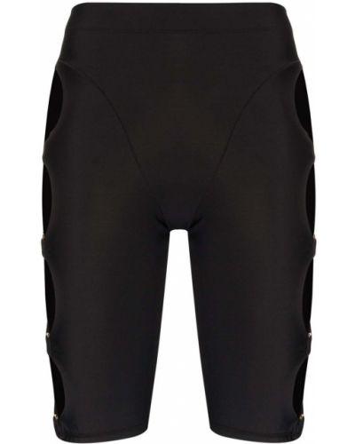 Нейлоновые черные с завышенной талией спортивные шорты Adam Selman Sport