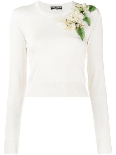 Свитер длинный с аппликацией Dolce & Gabbana