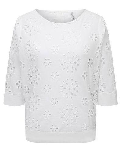 Льняная блузка - белая La Fabbrica Del Lino