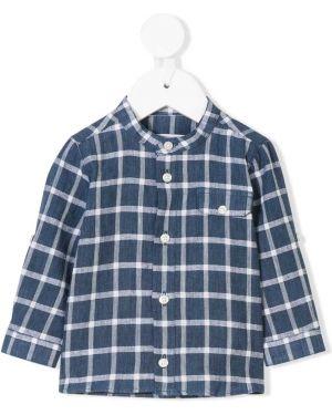 Синяя с рукавами рубашка с воротником-стойка Tartine Et Chocolat