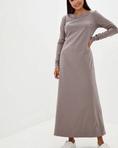 Прямое серое платье Прованс