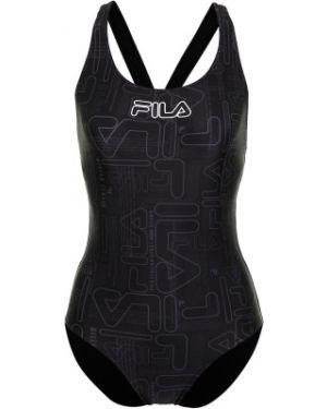 Спортивный купальник для бассейна черный Fila