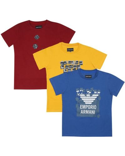 Bawełna koszula Emporio Armani Kids