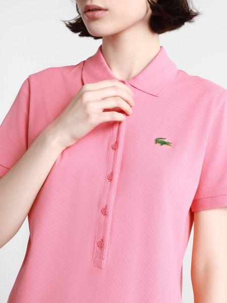 Розовое поло с короткими рукавами Lacoste