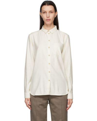 Шелковая белая рубашка с длинными рукавами Won Hundred