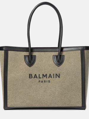 Armia dom zielony brezentowy torba na zakupy Balmain