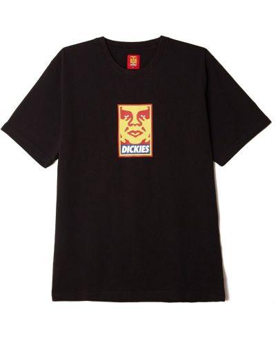 Повседневная черная футболка Obey