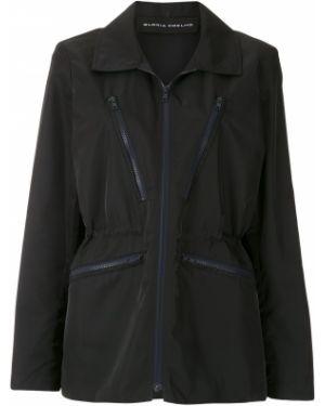 Черная пальто классическое с воротником Gloria Coelho