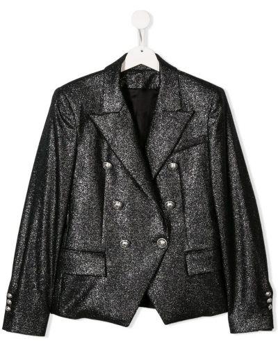 Пиджак двубортный с карманами Balmain Kids