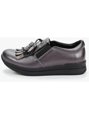 Кожаные ботинки низкие серый Shoiberg