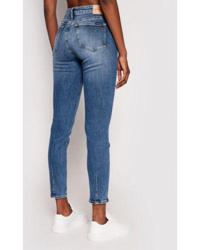 Mom jeans granatowe Calvin Klein Jeans