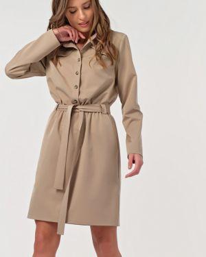 Платье с поясом на пуговицах платье-сарафан Fly