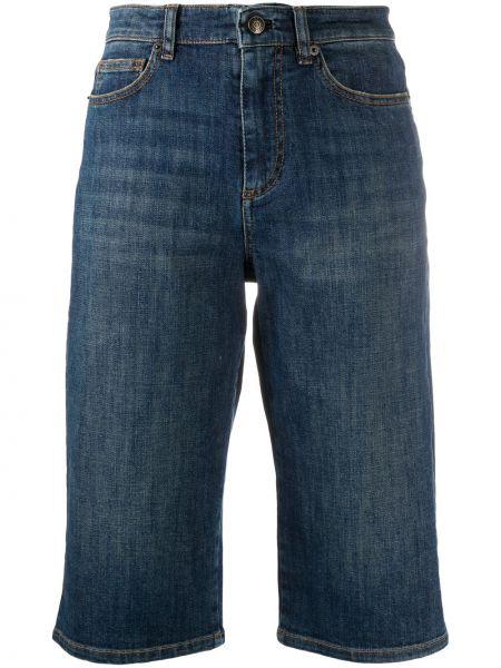 Синие хлопковые шорты на молнии Zadig&voltaire