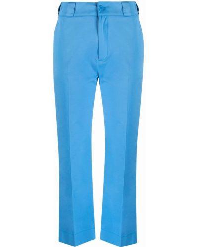 Хлопковые прямые синие укороченные брюки ..,merci