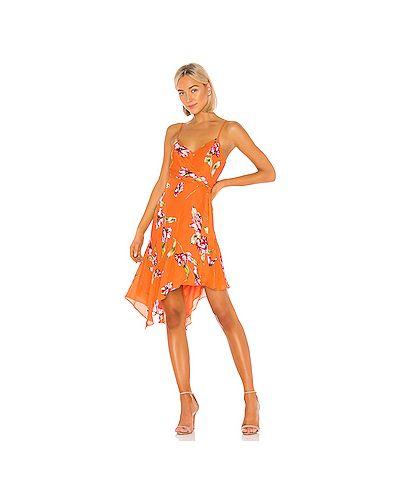 Платье с поясом на бретелях из вискозы Parker