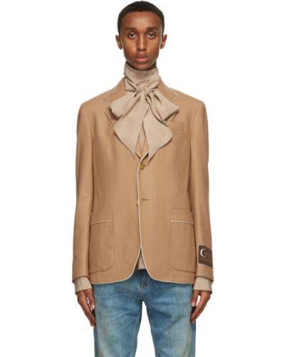 С рукавами белый классический пиджак с карманами Gucci