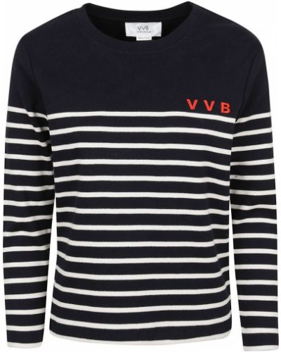 T-shirt w paski - czarna Victoria Beckham