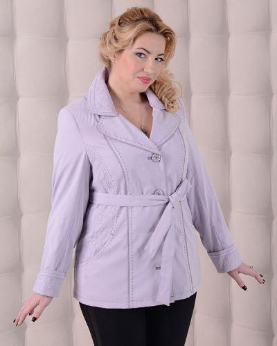 Фиолетовый пиджак с поясом на пуговицах мангуст