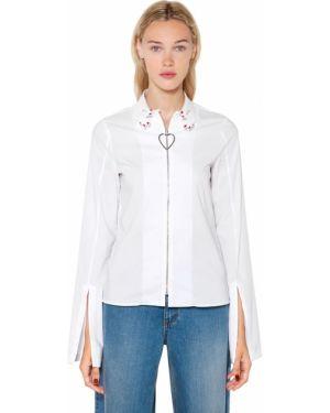 Рубашка с вышивкой на молнии Vivetta