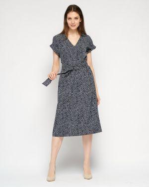 Свободное летнее платье с V-образным вырезом на молнии свободного кроя Fiato