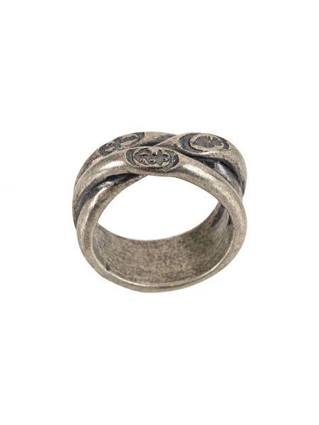 Pierścień srebro metal Tobias Wistisen