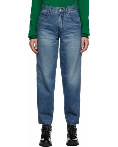 Джинсовые широкие джинсы - синие Victoria Beckham