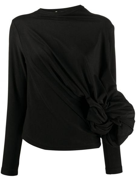 Czarny top z długimi rękawami asymetryczny Comme Des Garcons