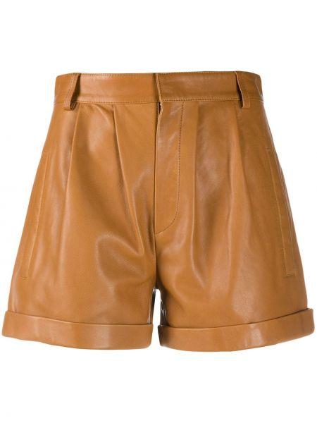 Однобортные короткие шорты с карманами из верблюжьей шерсти Federica Tosi