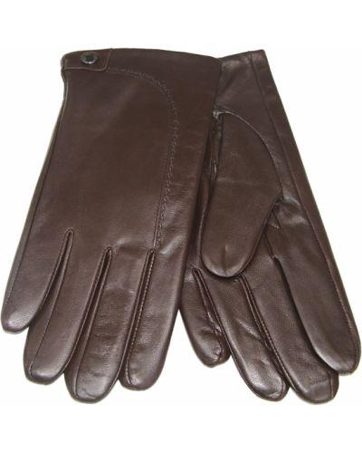 Кожаные перчатки - коричневые Finnemax