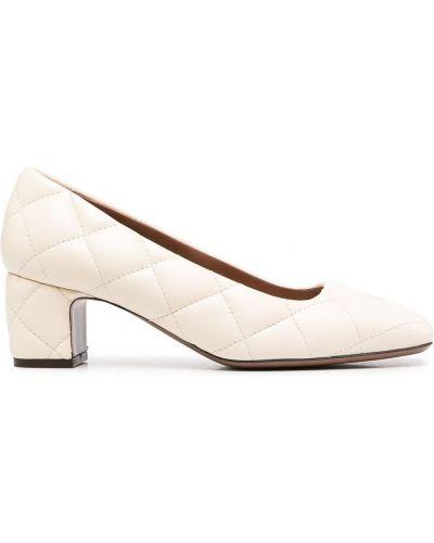 Кожаные белые туфли-лодочки на каблуке L'autre Chose
