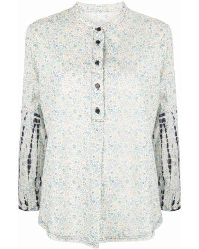 Блузка с принтом - синяя Raquel Allegra