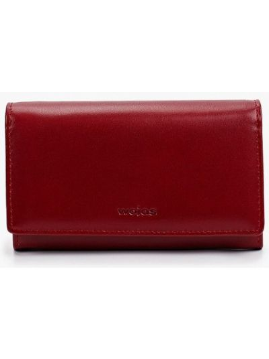 Бордовый кожаный кошелек Wojas