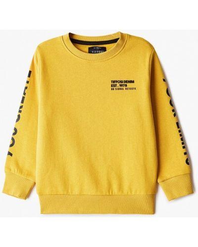 Желтый свитшот Tiffosi