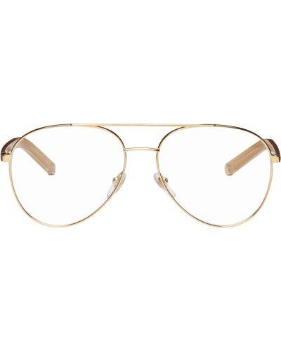 Okulary skorzane - żółte Retrosuperfuture