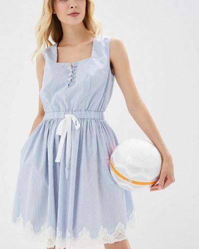 Голубое платье осеннее Lusio
