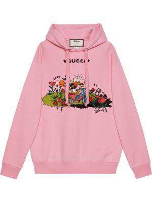 Bluza z nadrukiem z printem - różowa Gucci
