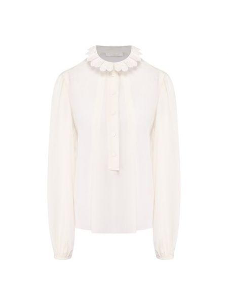 Блузка с пышными рукавами белая Chloé