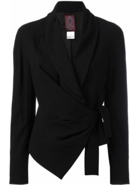 Черный удлиненный пиджак винтажный John Galliano Pre-owned