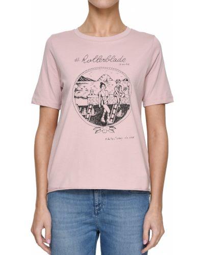 Розовая футбольная футболка Peuterey