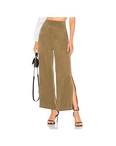 Укороченные брюки плиссированные оливковый Chrissy Teigen