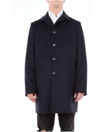 Z kaszmiru długi płaszcz z długimi rękawami zapinane na guziki Bottega Martinese