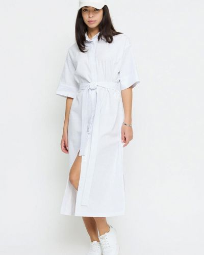 Белое зимнее платье Cardo