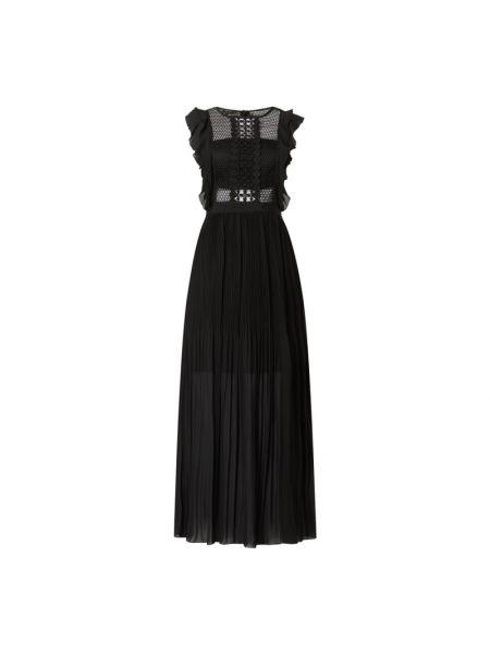 Czarna sukienka wieczorowa bez rękawów Apart Glamour