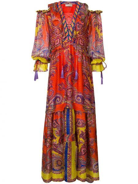 Платье шелковое расклешенное Etro