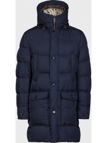 Куртка с мехом - синяя Joop!