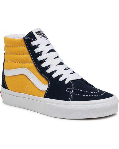 Buty sportowe skorzane - żółte Vans