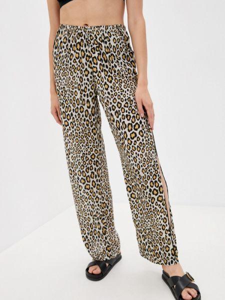 Повседневные бежевые брюки Luli Fama