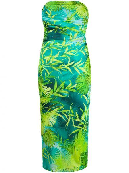 Платье миди на молнии со складками Versace